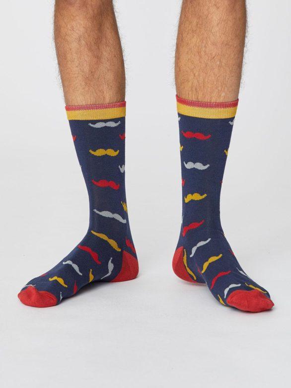 Bambusové ponožky Gentleman modré