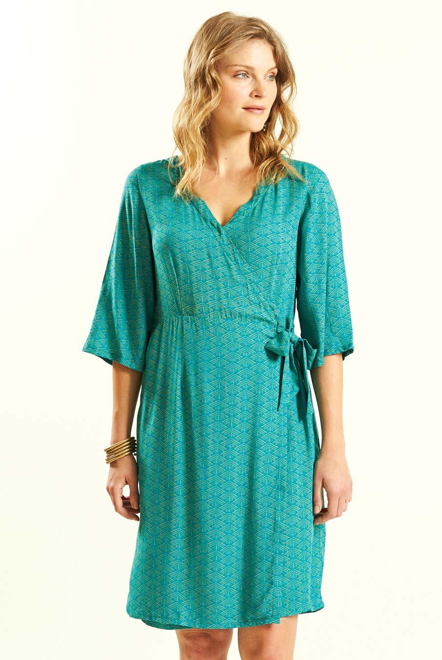 Tunikové šaty Kimono tyrkysové ⋆ Green butik aa05747019