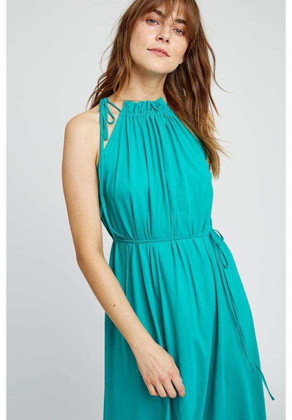 Maxi šaty z bio bavlny Stacie zelené