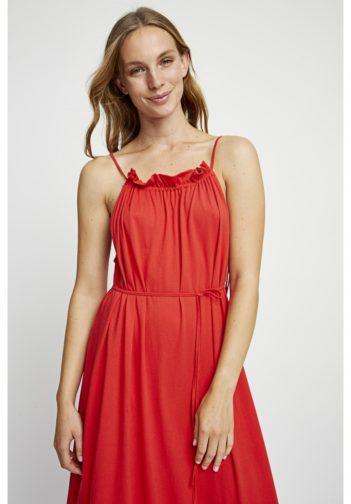 Maxi šaty z bio bavlny Stacie červené