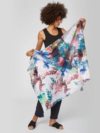 Tencelový šátek Solar Flower