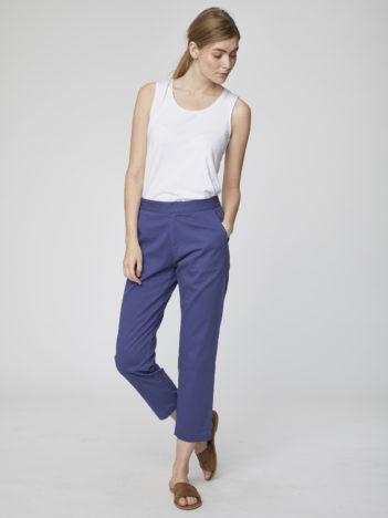 Capri kalhoty z bio bavlny Sheng modré