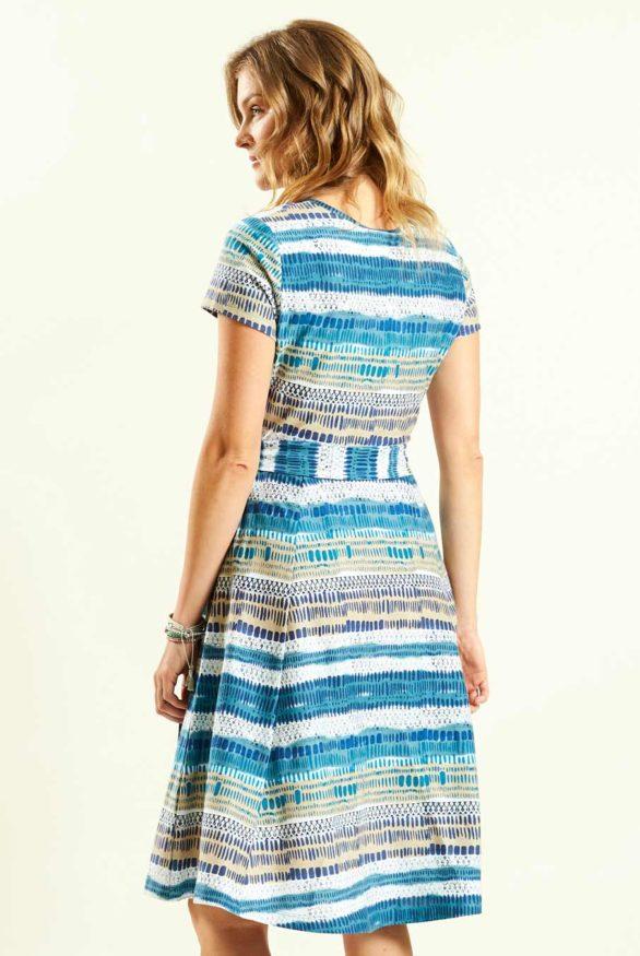 Šaty z bio bavlny Stripes modré