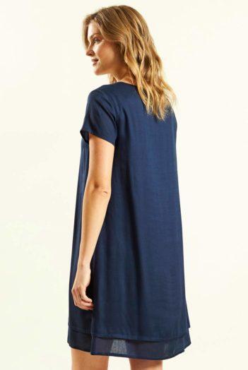 Vrstvené šaty modré