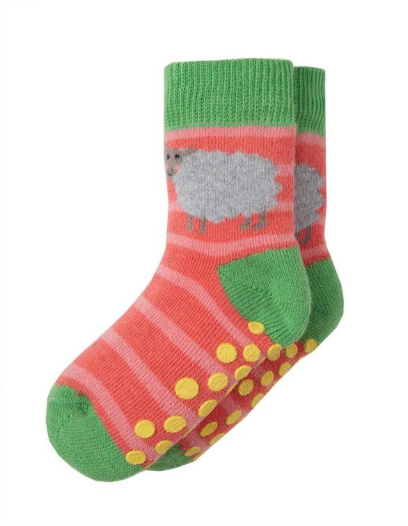 Protiskluzové ponožky Bunny dvojbalení Frugi