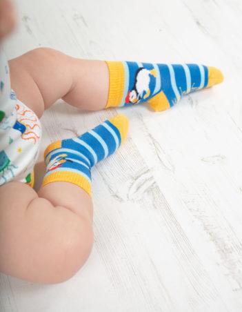 Ponožky Puffin trojbalení frugi