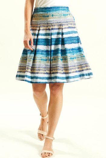 Sukně z bio bavlny Stripes modrá