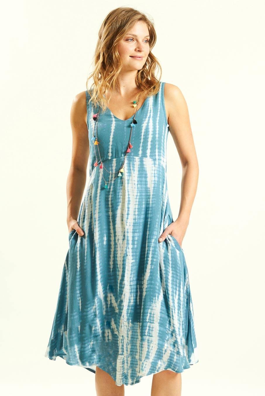 061d973630d Batikované šaty modré ⋆ Green butik