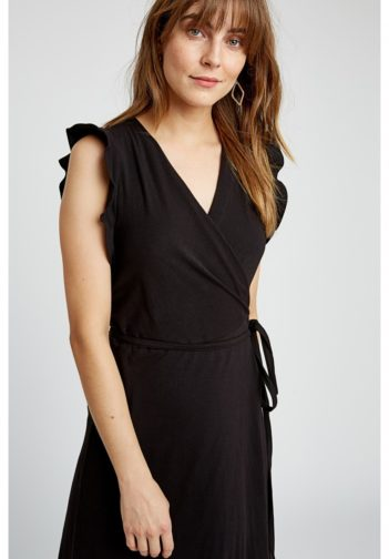 Šaty z bio bavlny Melanie černé