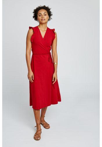 Šaty z bio bavlny Melanie červené