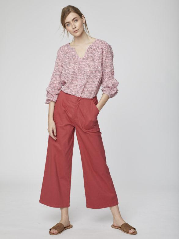 Culottes kalhoty z bio bavlny Osvaldo