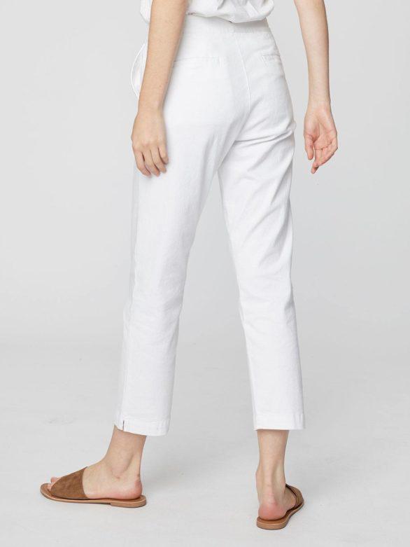 Kalhoty z bio bavlny Sheng bílé