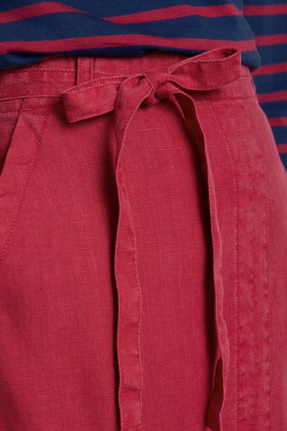 Lněná sukně Lead červená