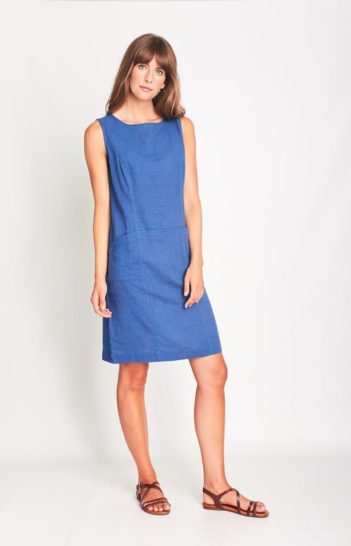 Šaty se lnem Matilde modré