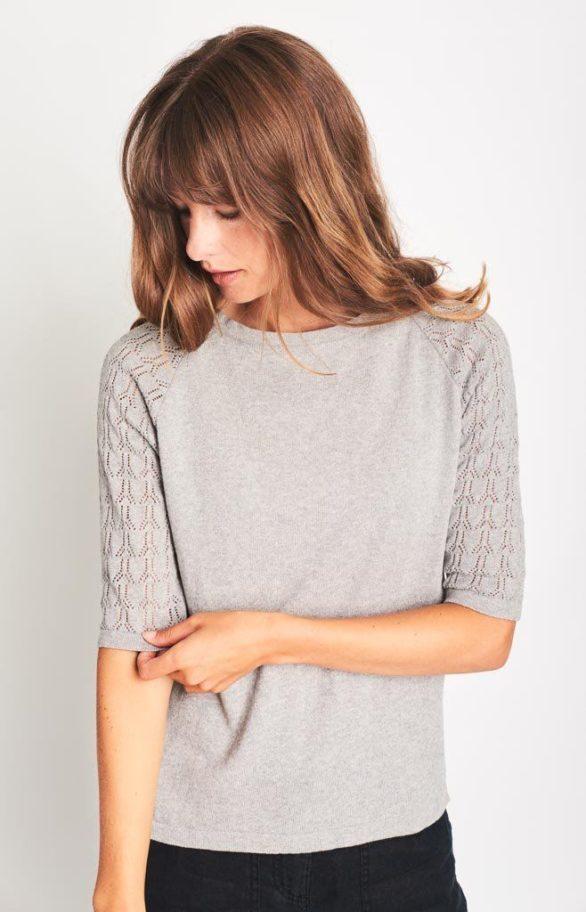 Svetr z bio bavlny Molly šedý