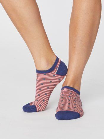 Bambusové ponožky Spot and Stripe růžové