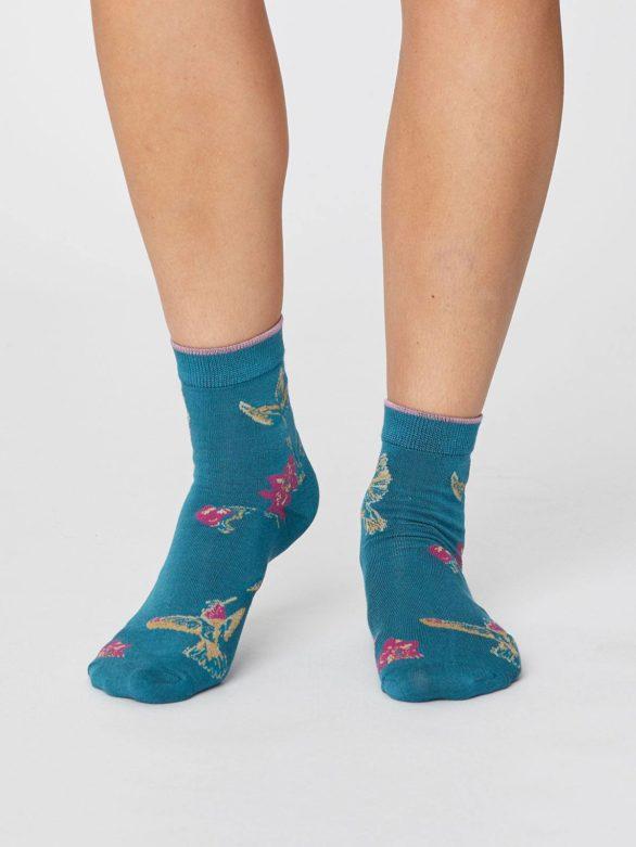 Modalové ponožky Birdy tyrkysové