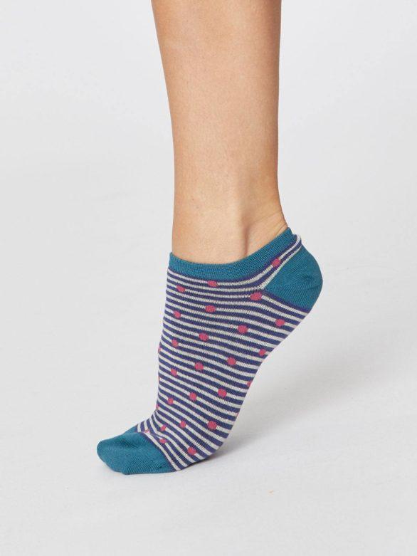 Bambusové ponožky Spot and Stripe modré