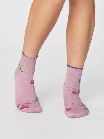 Modalové ponožky Birdy růžové
