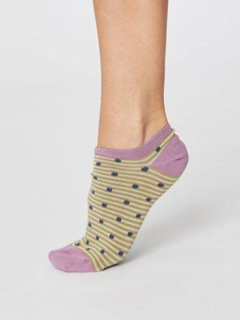 Bambusové ponožky Spot and Stripe béžové