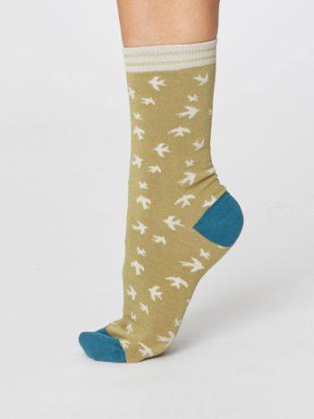 Modalové ponožky Swallow béžové