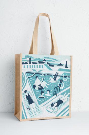 Jutová nákupní taška Lido Bathers