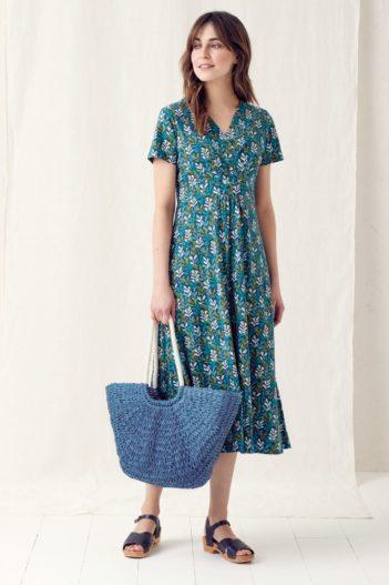 Šaty z bio bavlny Chapelle Seaweed