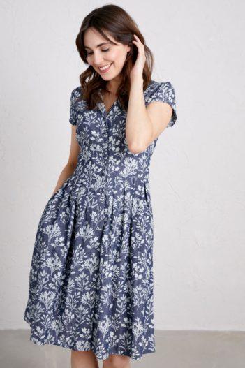 Košilové šaty Beatrice Seaweed