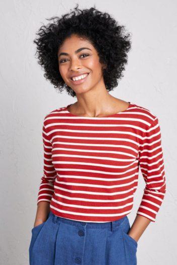 Top Sailor z bio bavlny červený