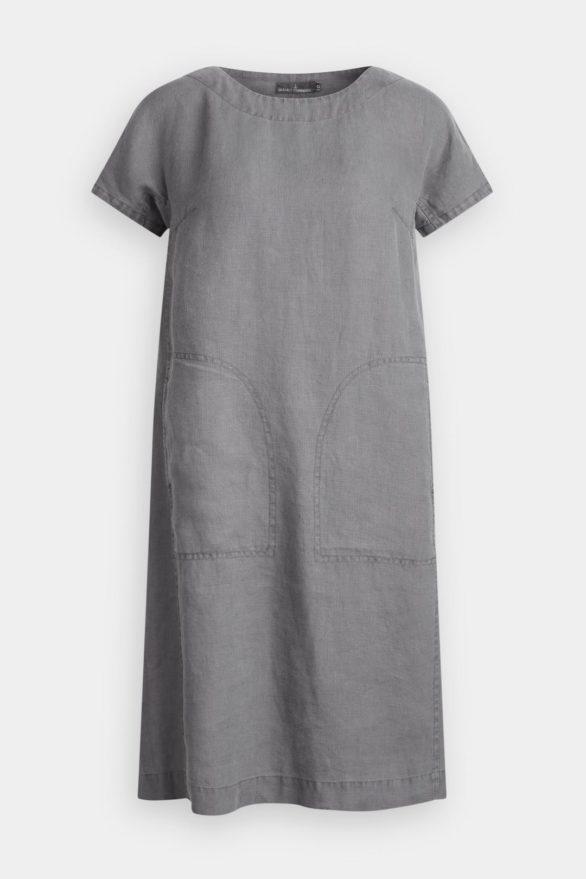 Lněné šaty Primary světle šedé