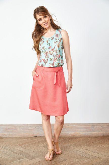 Tencelová sukně Popeline růžová