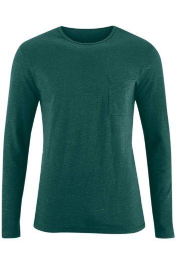 Tričko s dlouhým rukávem z bio bavlny Bruce zelené