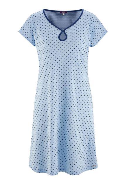 Noční košile z bio bavlny Gloria modrá