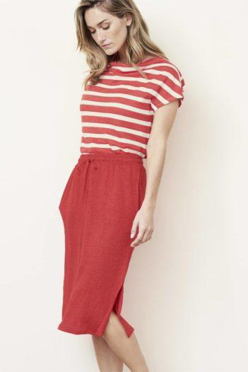 Lněná sukně Georgia červená