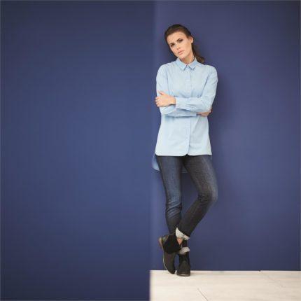Džíny z bio bavlny Brenna černé