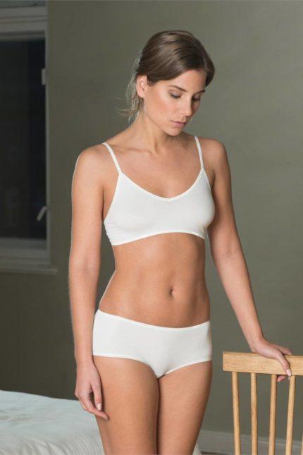 Braletka z bio bavlny Camilla bílá