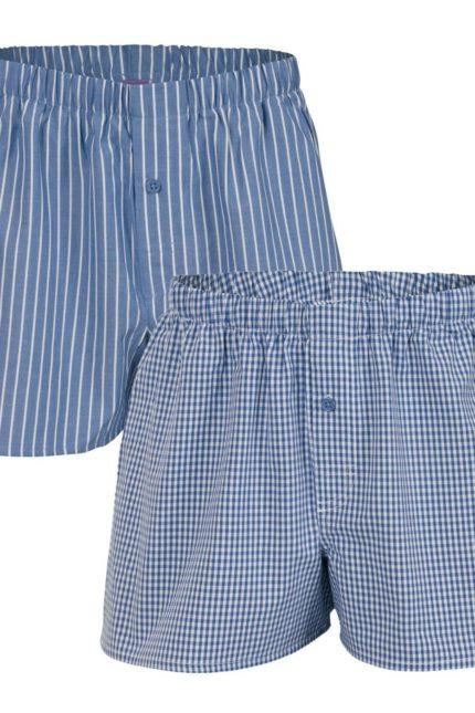 Dvojbalení boxerek z bio bavlny Gregor modré