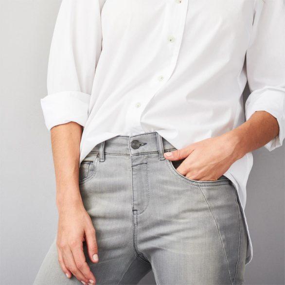 Džíny z bio bavlny Brenna šedé
