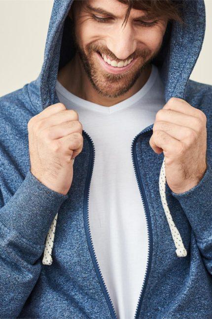 Mikina z bio bavlny Cameron světle modrá