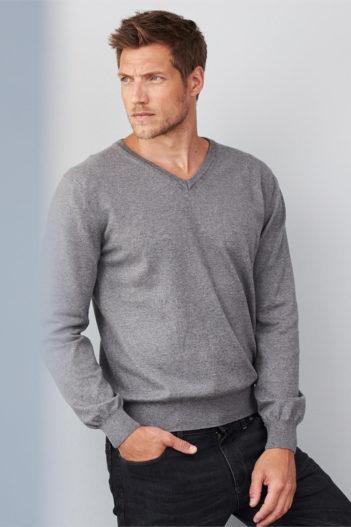 Svetr z bio bavlny Daniel šedý