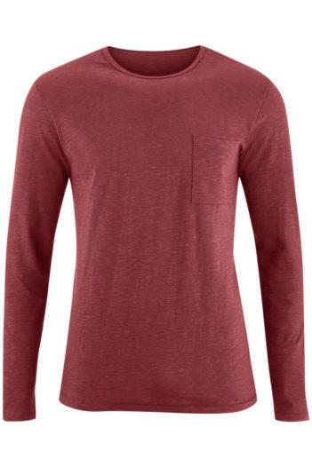 Tričko s dlouhým rukávem z bio bavlny Bruce červené