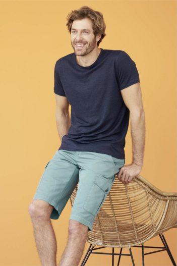 Lněné tričko Andy modré