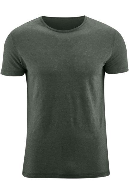 Lněné tričko Andy khaki