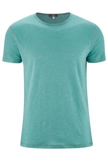 Lněné tričko Andy tyrkysové