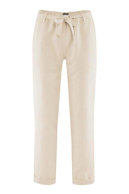Lněné kalhoty Gill pískové