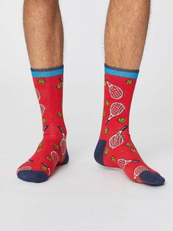 Bambusové ponožky Sports club červené