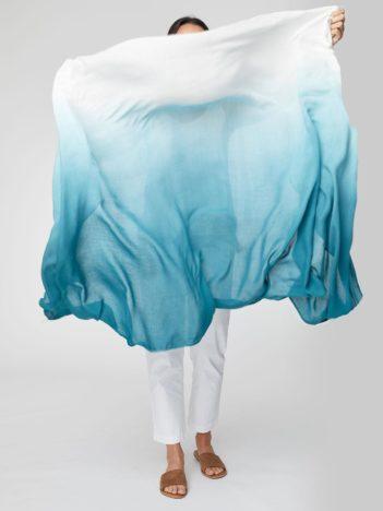 Bambusový dip dye sarong tyrkysový