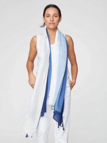 Bambusový dip dye sarong modrý