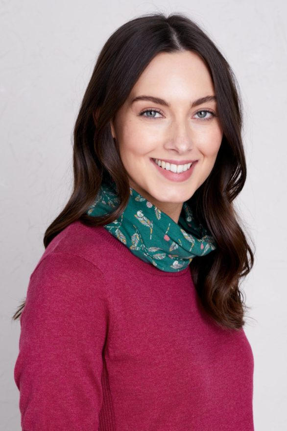 Seasalt Cornwall kruhový šátek z bio bavlny berries