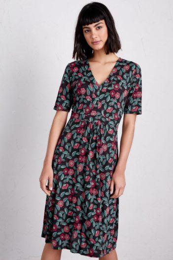Seasalt Cornwall bambusové šaty quinn camellia